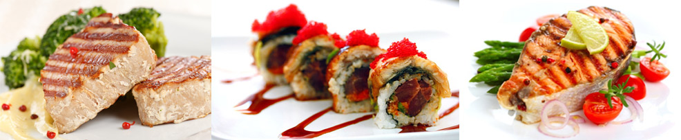 Steak tuňák | Sushi | Losos steak