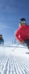 Lyžaři a snow opening